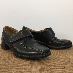 Josef Seibel Black Leather Shoes Size 36